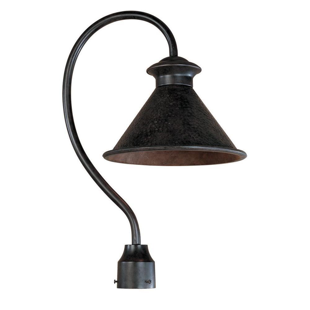 Dark Sky Essen 1-Light Outdoor Bronze Post Lamp