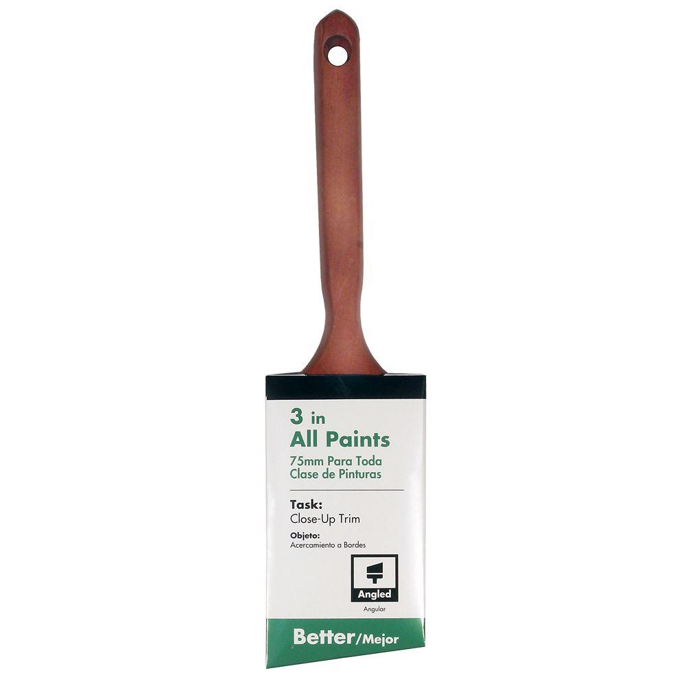 Linzer 3 in. Angled Sash Brush-DISCONTINUED