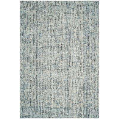 Abstract Blue/Charcoal 6 ft. x 9 ft. Area Rug
