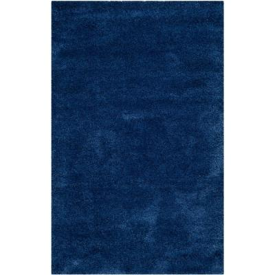 Milan Shag Navy 4 ft. x 6 ft. Area Rug