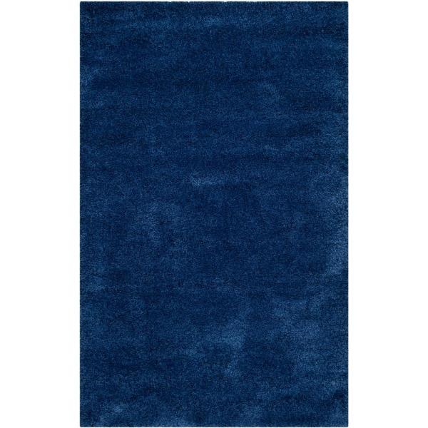 Milan Shag Navy 6 ft. x 9 ft. Area Rug