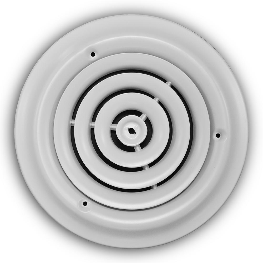 6 in. White Round Diffuser