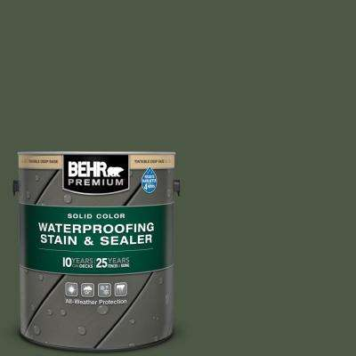 1 gal. #SC-120 Ponderosa Green Solid Color Waterproofing Exterior Wood Stain and Sealer