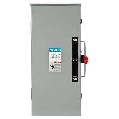 General Duty Double Throw 100 Amp 240-Volt 3-Pole Outdoor Non-Fusible Safety Switch