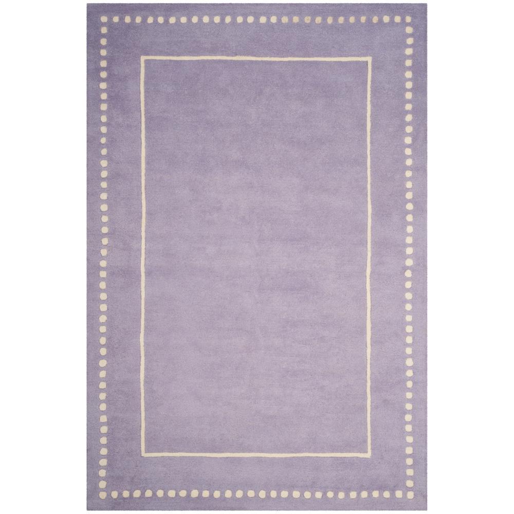Bella Lavender/Ivory 6 ft. x 9 ft. Area Rug