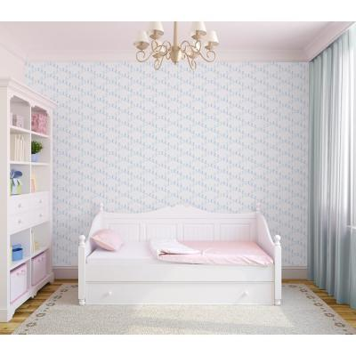 Baby Collection Ski Slope in Winter Removable and Repositionable Wallpaper