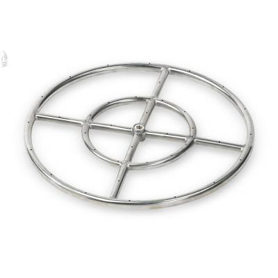 18 in. Dual-Ring 304. Stainless Steel Fire Pit Ring Burner, 1/2 in. Inlet
