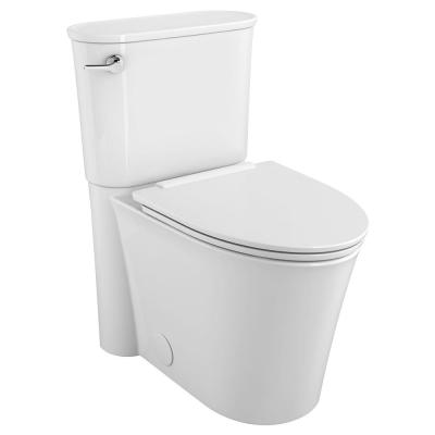Studio S Right Height 2-piece 1.28 GPF Single Flush Elongated Toilet with Left Hand Trip Lever in White, Seat Included
