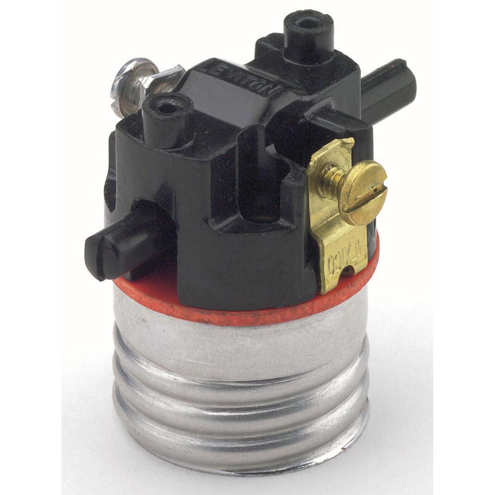 660W Medium Base Single Circuit Push-Through Incandescent Lampholder Interior