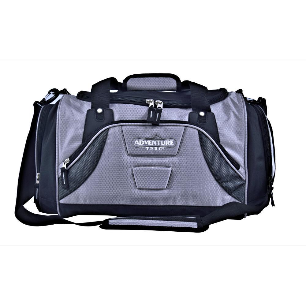 28 in. Silver Multi-Pocket Sport Duffel
