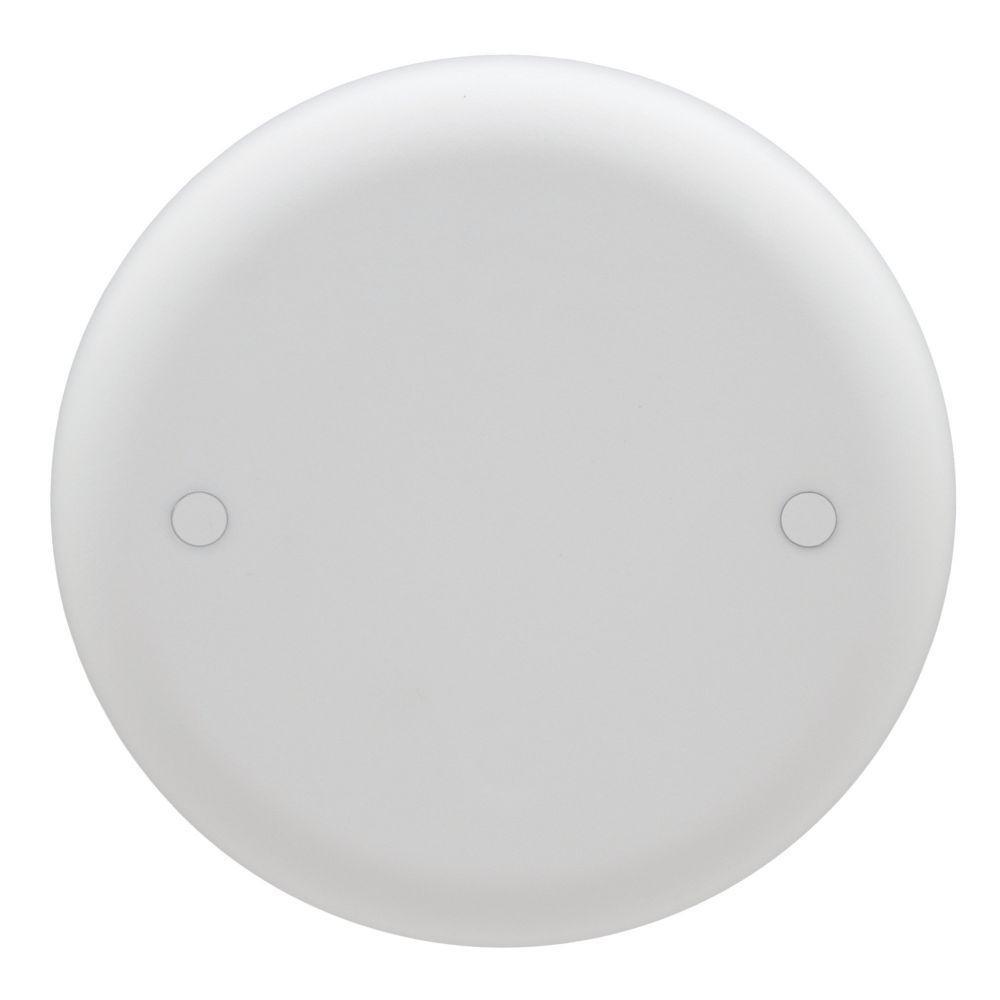 Carlon 4 In White Non Metallic Round Blank Ceiling Box Cover Cpc4wh