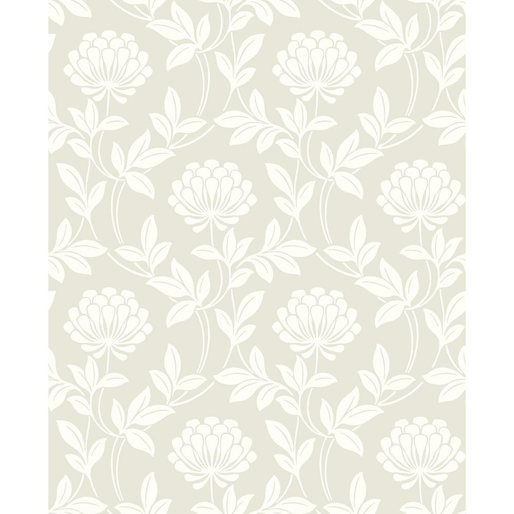 Advantage 8 In X 10 In Ogilvy Platinum Floral Wallpaper Sample