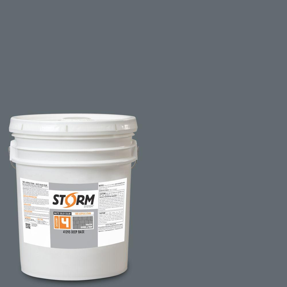 Storm System Category 4 5 gal. Lodestone Matte Exterior Wood Siding 100% Acrylic Latex Stain