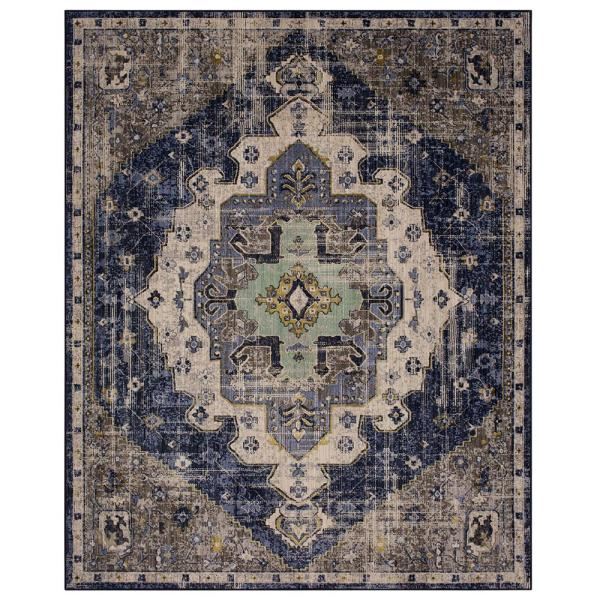 Mohawk Home Pantaleone Indigo 6 Ft 6 In X 9 Ft Area Rug 682019 The Home Depot