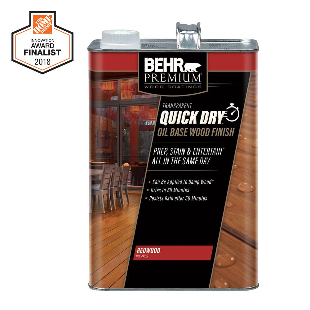 Transpa Quick Dry Oil Base Wood Finish Redwood Exterior Stain