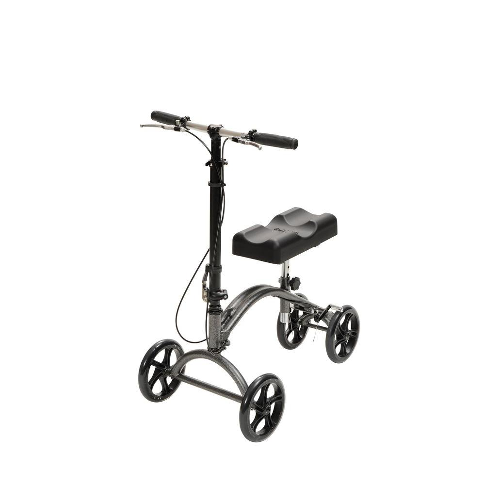 Drive Foldable Steerable Knee Walker Scooter Turning Folding With Brakes & Basket