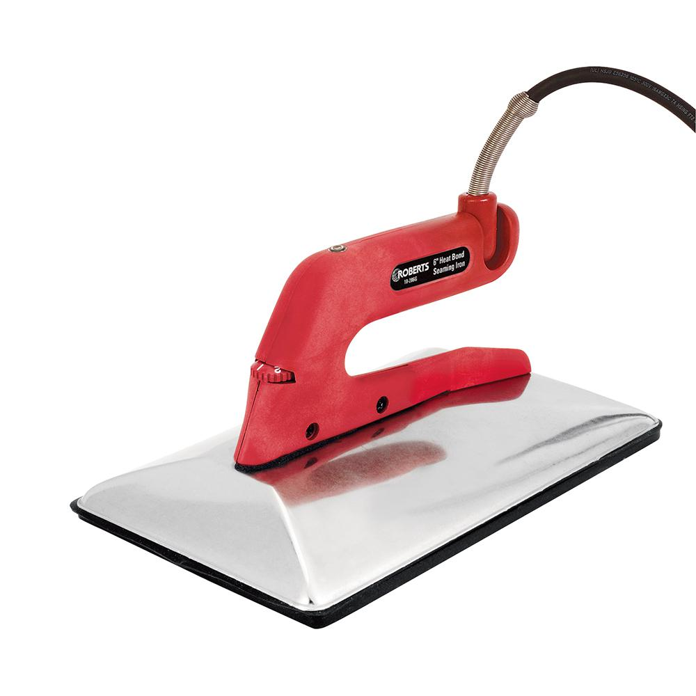 6 in. Wide Heat Bond Carpet Iron with Non-Stick Grooved Base