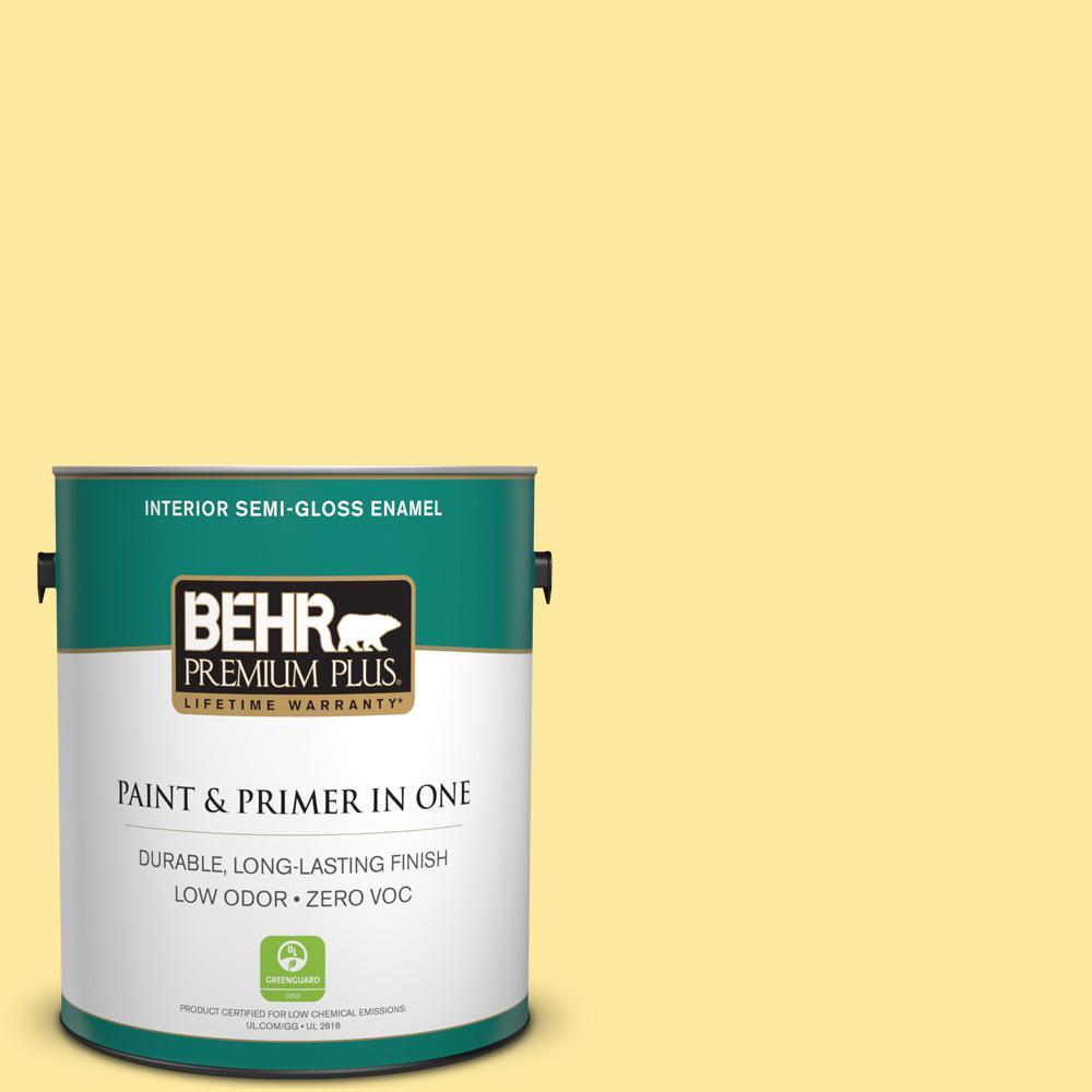 1-gal. #P300-4 Rise and Shine Semi-Gloss Enamel Interior Paint