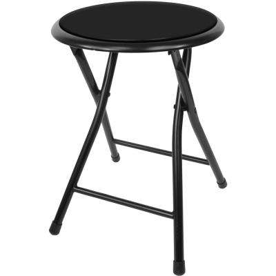 18 in. Cushioned Folding Stool