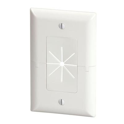 White 1-Gang 1-Decorator/Rocker/1-Duplex Wall Plate (1-Pack)