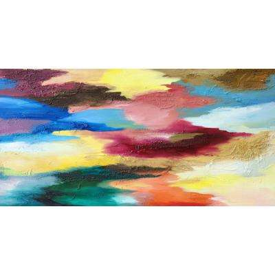"30 in. x 60 in. ""Color Mash"" by Milo Printed and Painted Canvas Wall Art"