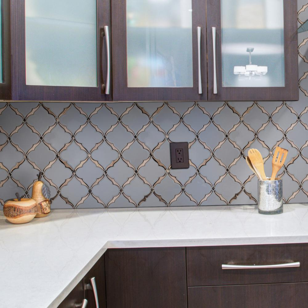 - MSI Victorian Light Arabesque 14.13 In. X 10.59 In. X 8mm Glossy Porcelain  Mesh-Mounted Mosaic Tile (10.4 Sq. Ft./case)-PT-VICLTARAB8MM - The Home  Depot