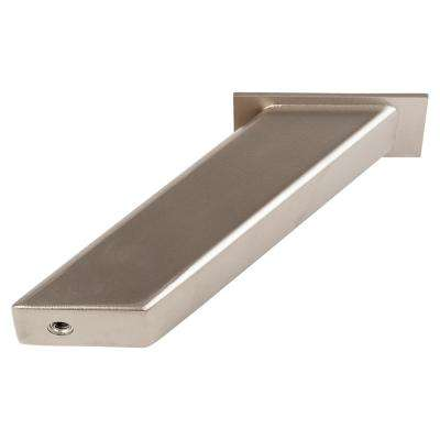 Noda 4 in. x 5 in. Satin Silver Countertop Standoff Post Support