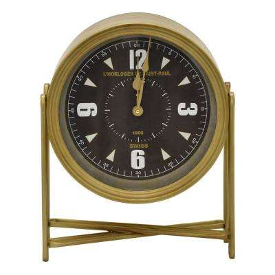 15.75 in. Gold Table Top Clock