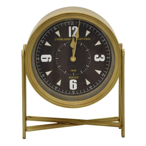 Charmant Gold Table Top Clock