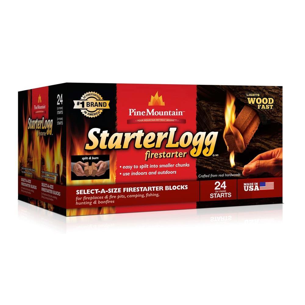 StarterLogg StarterLogg Wood Fireplace Fuel (24-Pack)