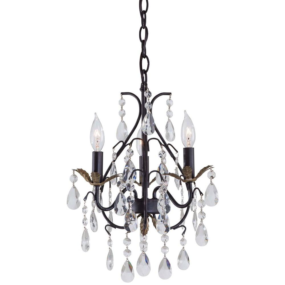 Minka Lavery 3 Light Castlewood Walnut Mini Chandelier