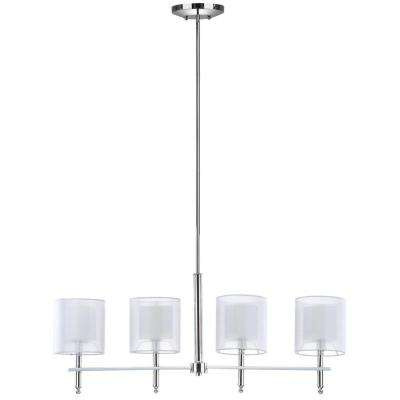 Aura 4-Light Chrome Island Pendant Chandelier