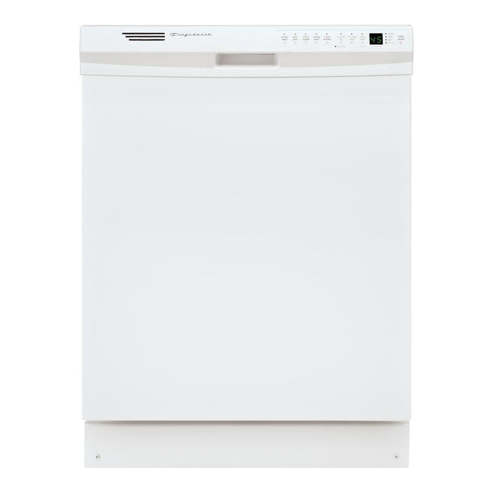 Frigidaire Front Control Dishwasher In White With Stainless Steel Tub Energy Star 56 Dba