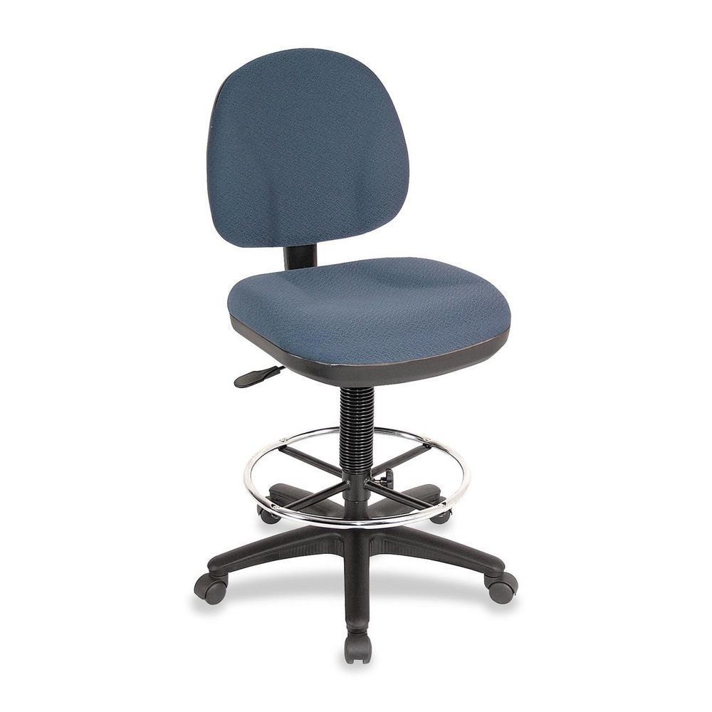 Beau Lorell Millenia Blue Adjustable Office Stool