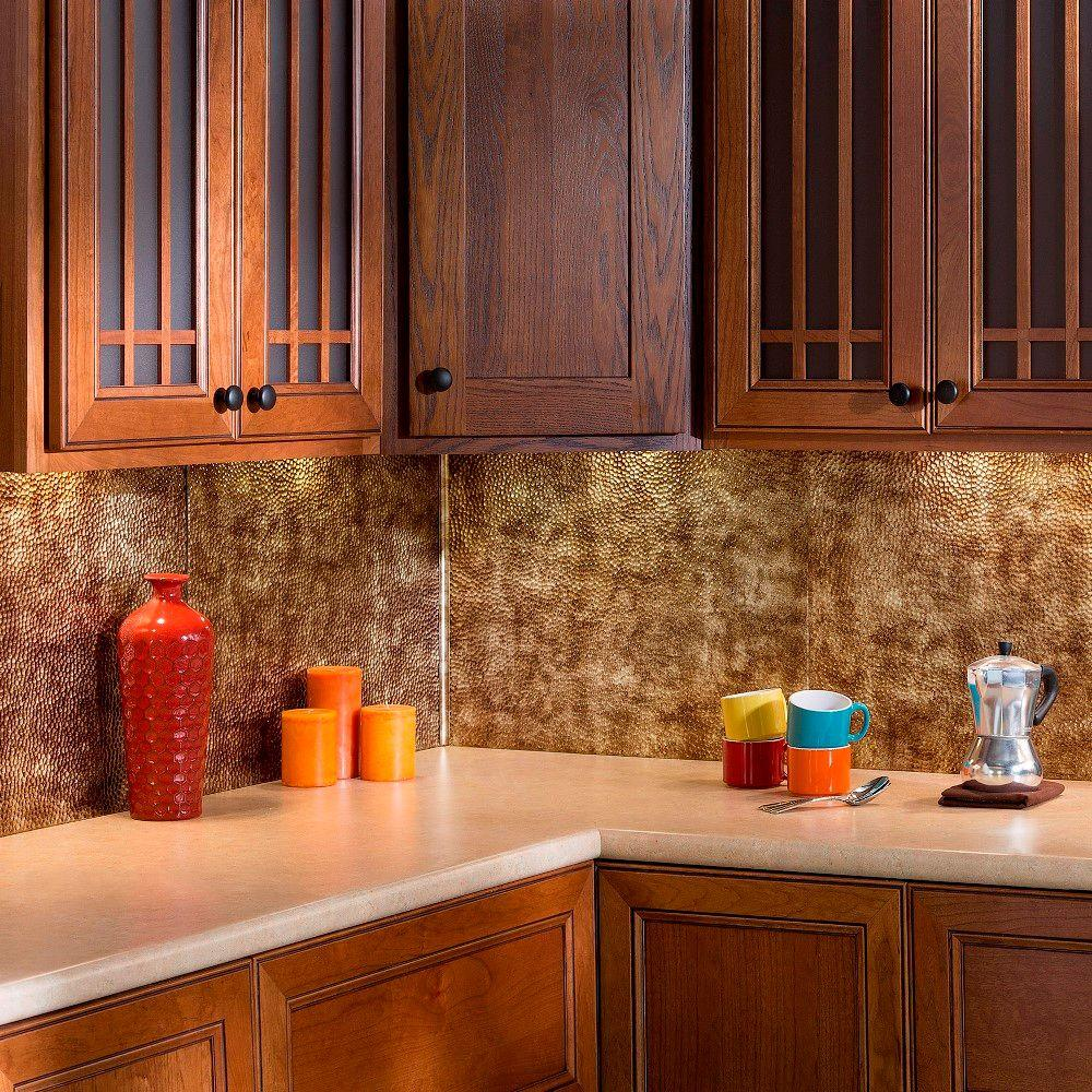 Home Depot Kitchen Backsplash Pictures: Fasade 18 In. Inside Corner Trim In Bermuda Bronze-926-17