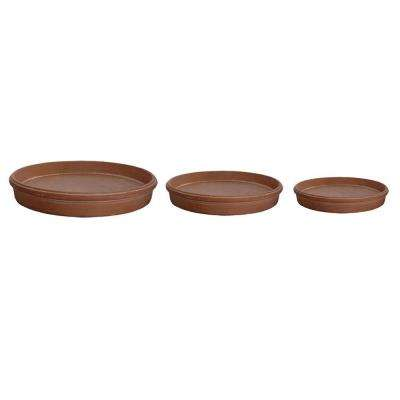 White Washed Terracotta Composite Saucers (Set of 3)