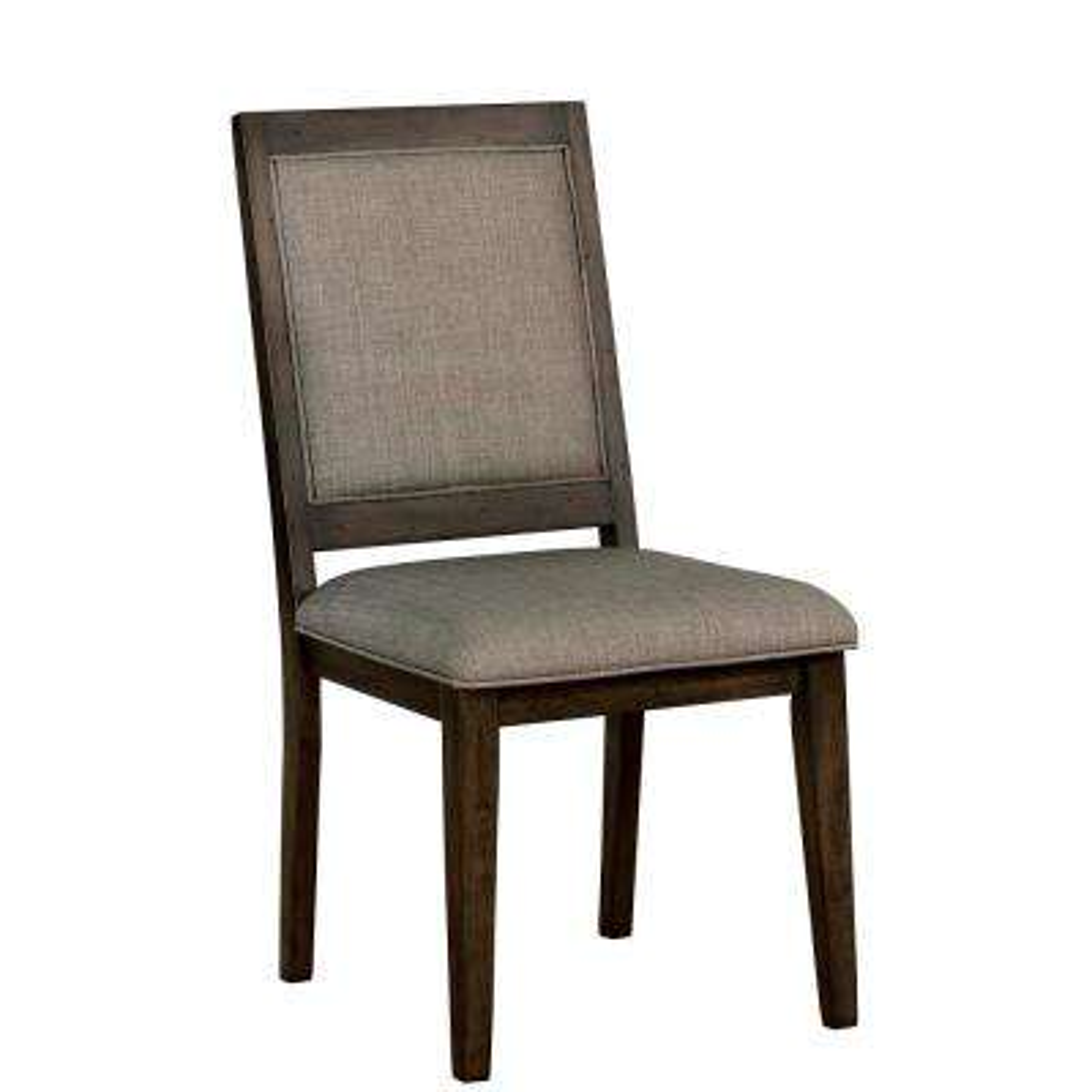 Juana Walnut Fabric Trellis Side Chair (Set of 2)