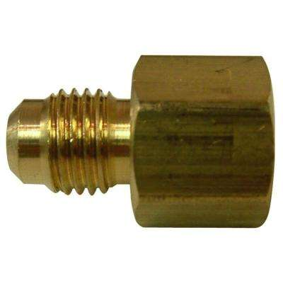 3/8 in. FL x 1/2 in. O.D. Lead-Free Brass Flare Coupling