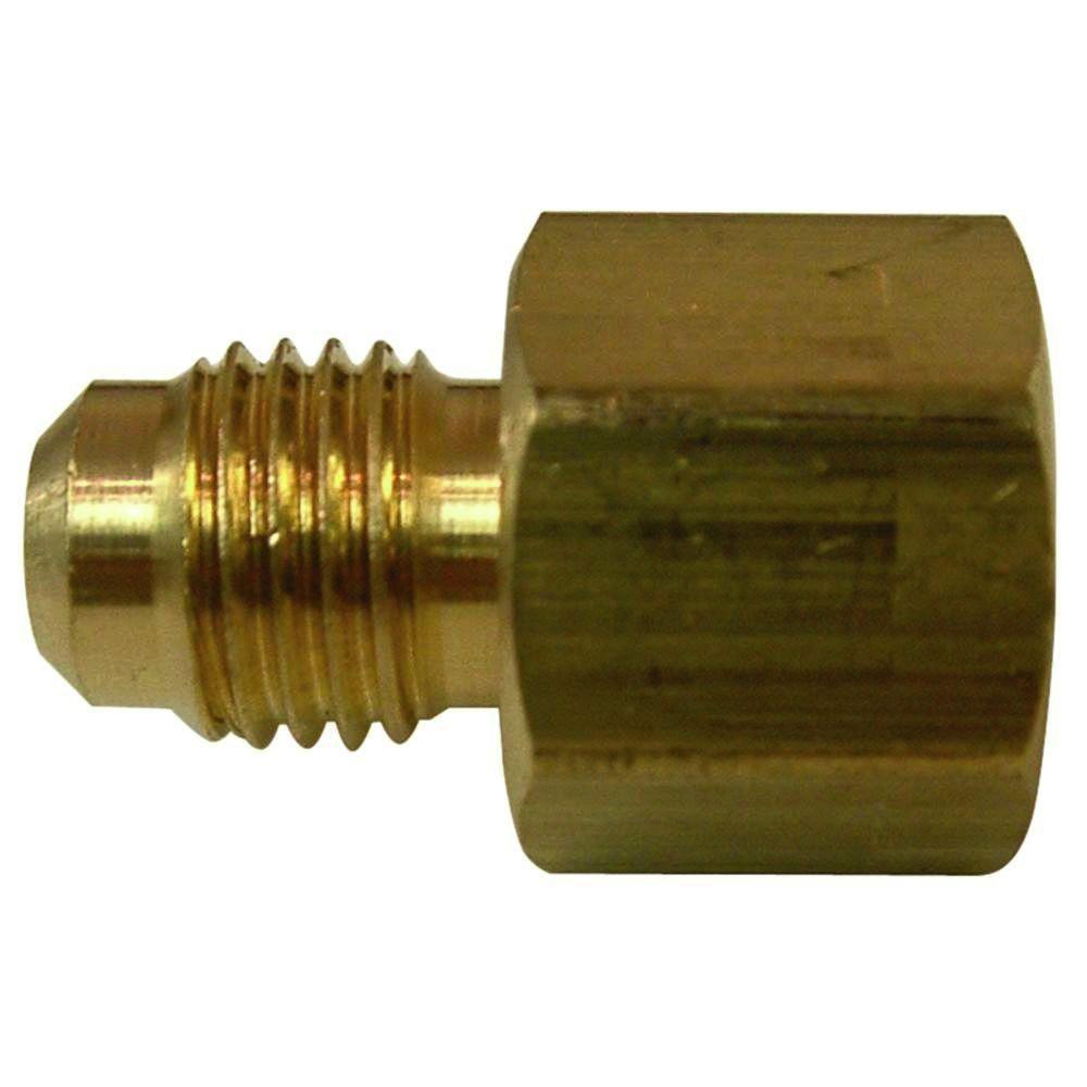 1/2 in. FL x 3/8 in. O.D. FIP Lead-Free Brass Flare Coupling