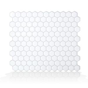 Hexago 11.27 in. W x 9.64 in. H Peel and Stick Self-Adhesive Decorative Mosaic Wall Tile Backsplash