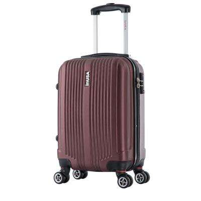 San Francisco lightweight hardside spinner 18 in. carry-on -Wine