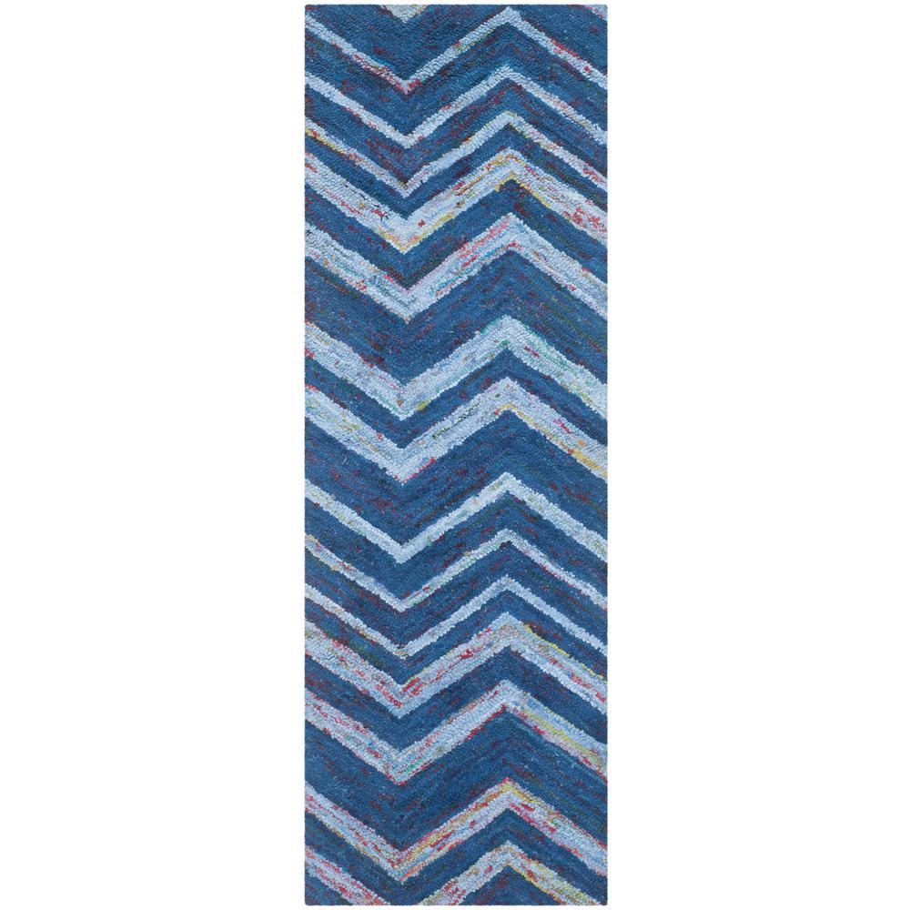Safavieh Nantucket Blue/Multi 2 ft. x 7 ft. Runner Rug