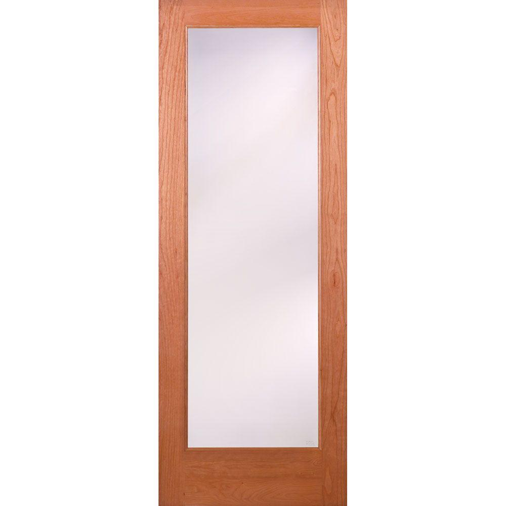 Superior Feather River Doors 32 In. X 80 In. 1 Lite Unfinished Cherry Privacy  Woodgrain