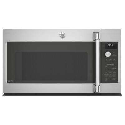 Cafe 2.1 cu. ft. Over the Range Microwave in Stainless Steel with Steam Cook