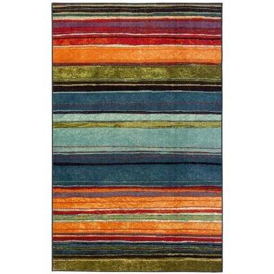 Mohawk Home Rainbow Multi 1 ft. 8 in. x 5 ft. Striped Area Rug