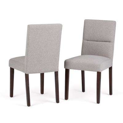 Ashford Contemporary Parson Dining Chair (Set of 2) in Cloud Grey Linen Look Fabric