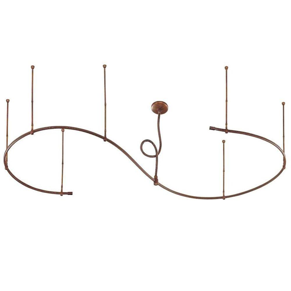 Hampton Bay 12 ft. Adjustable Antique Bronze Flex Track Starter Kit