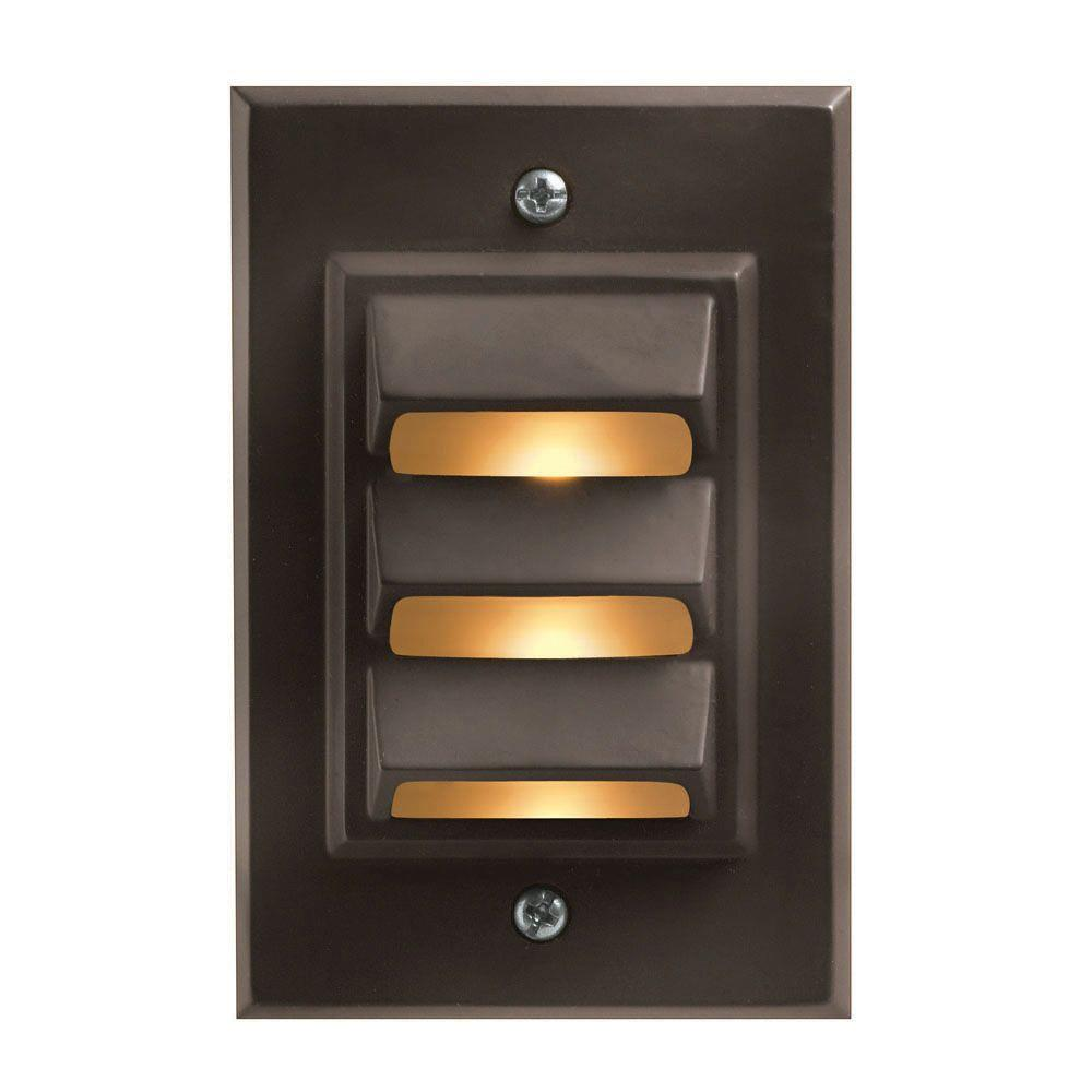 Deck lighting outdoor lighting the home depot low voltage 12 watt bronze cast aluminum vertical deck light arubaitofo Image collections
