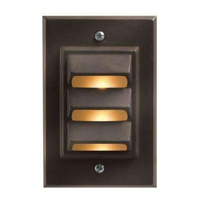 Low-Voltage 12-Watt Bronze Cast Aluminum Vertical Deck Light