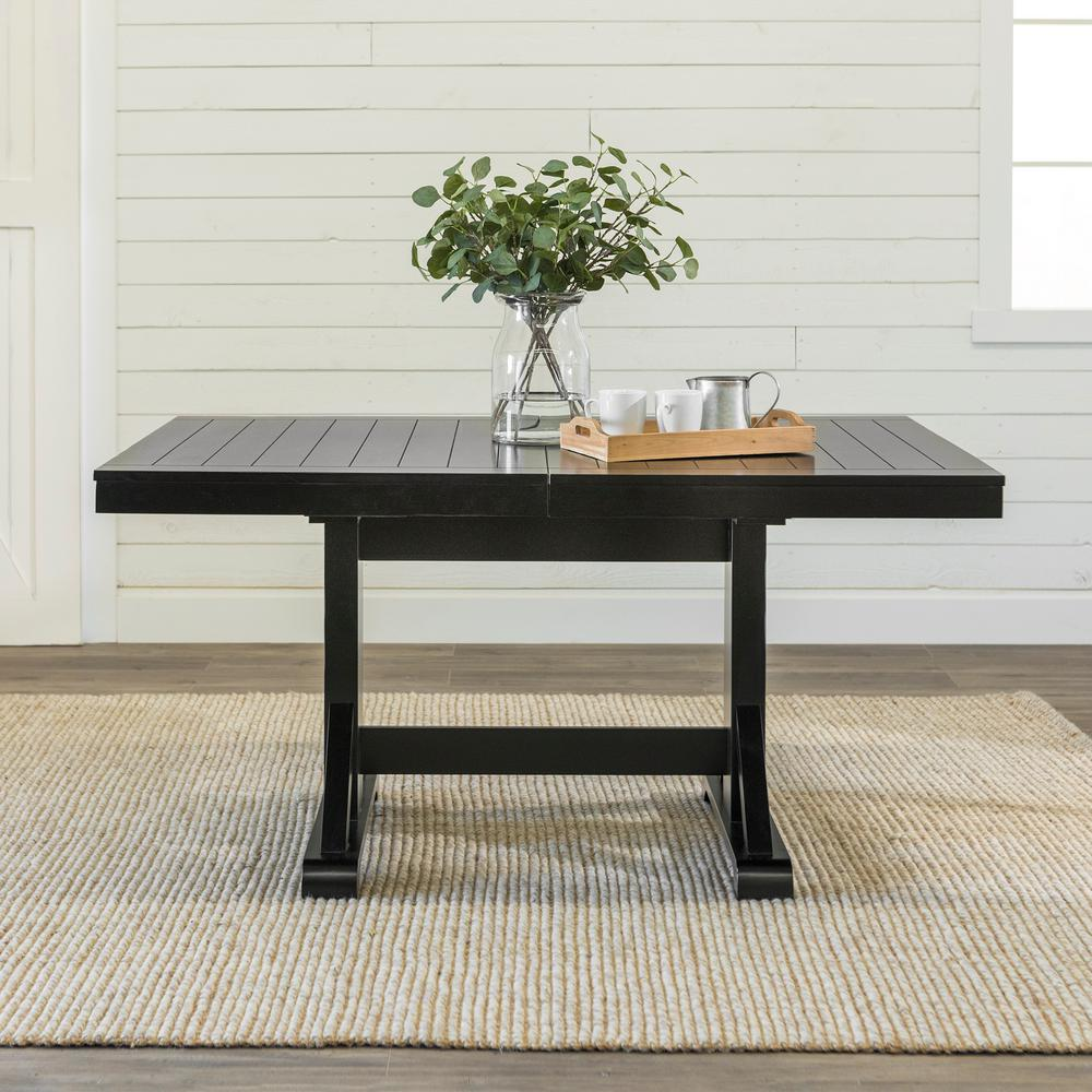 Millwright Black Extendable Dining Table